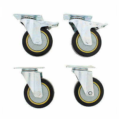 Abn Swivel Plate Caster Wheels 4 Inches Set Of 4 Locking Casters For Furniture