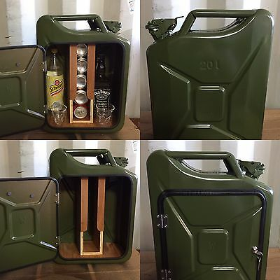 Upcycled Jerry Can Mini Bar, Picnic, Camping, Recycled, New Can