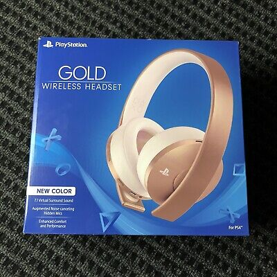 Official Sony PS4 Wireless Stereo Game Headset Rose Gold -PlayStation 4 Gold NEW