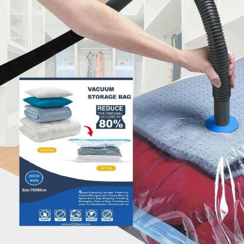 13 PACK : 9 Large XL Vacuum Seal Space Saver Storage Bags + Bonus 4 Travel Bags