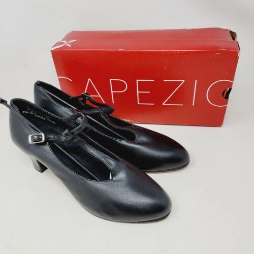 Capezio Jr Footlight 750 Womens Dance Shoes Black T-Strap Mary Jane Size 10M