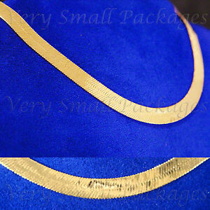 NEW-14K-GOLD-GP-7mm-MIRROR-HERRINGBONE-24-HIPHOP-NECKLACE-CHAIN-SHIPS-FAST-C43