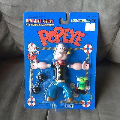 1997 KFS Popeye Bendable DORDA  3 piece set new