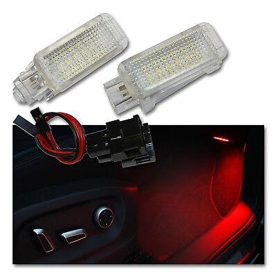 2x LED Modul Fußraumbeleuchtung für AUDI A1 A3 A4 A5 A6 A7 A8 Q3 Q5 Q7 TT Rot