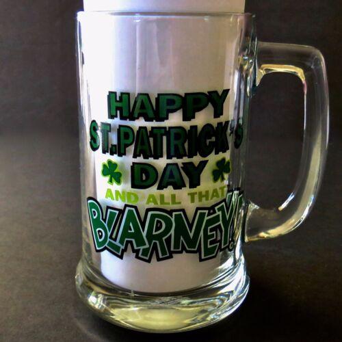 Tankard Mug Happy St Patricks Day and All That Blarney Glass Papel Freelance