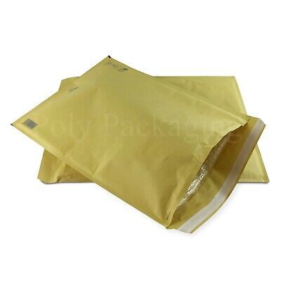 1000 x GOLD BUBBLE ENVELOPES 350x470mm(K/7)(EP10)Padded Bags EXTRA LARGE