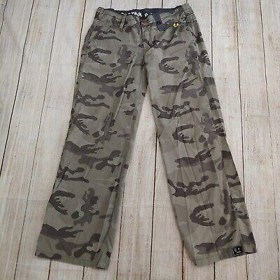 G Star Raw Camo Pants combat   Military Cargo Army pants  green 34/32
