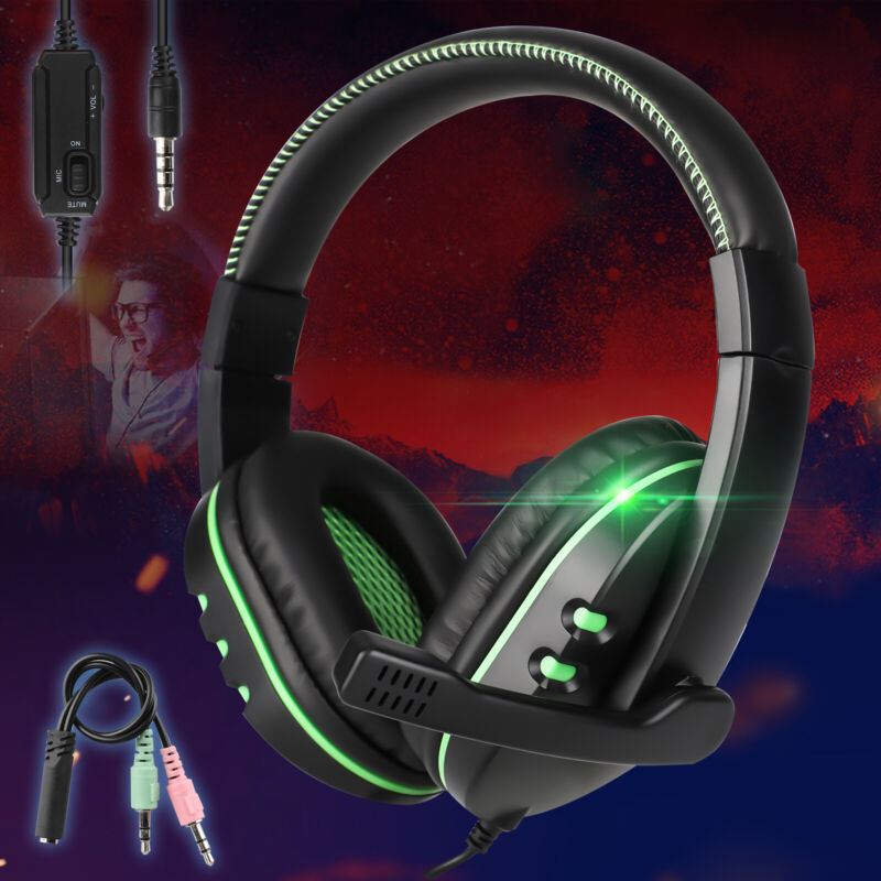Stereo Sound Headphone Gaming Headset For PS5/Nintendo Switch/Xbox One/PC/Phone
