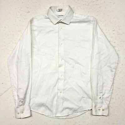 Calvin Klein Kids Dress Shirt Boys Size 14 White