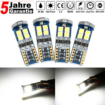 4X T10 3030 LED 12 SMD Standlicht Mercedes W204 C Klasse CANBUS Xenon Weiss 12V
