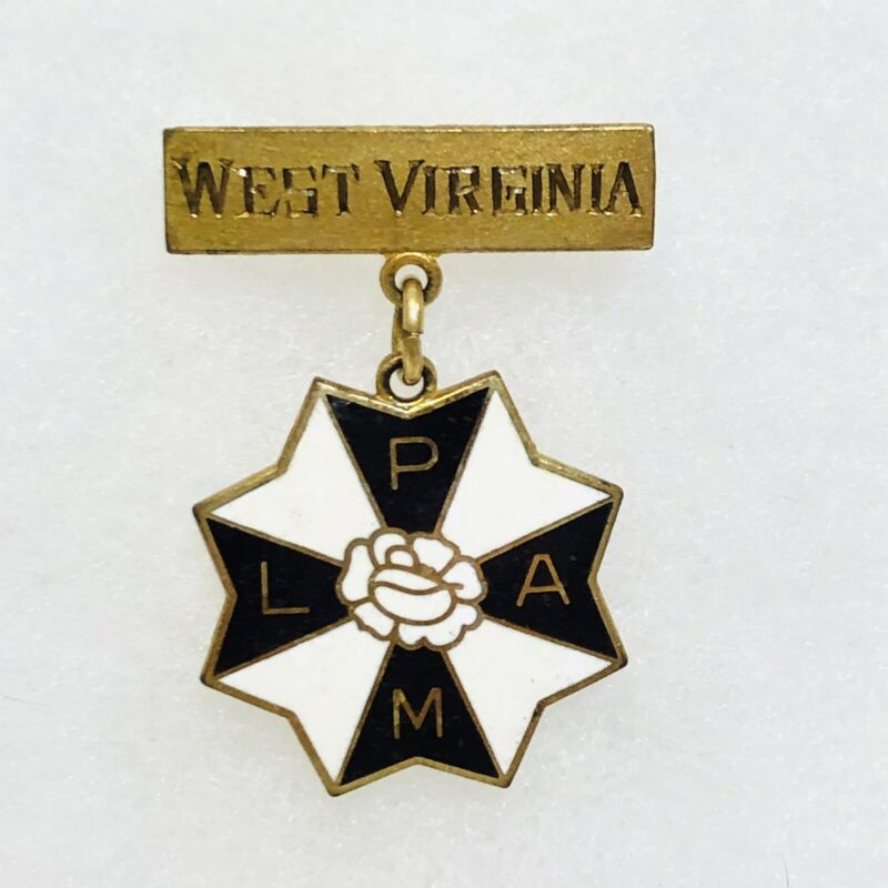 Vintage Moose Fraternal LPAM Lady Of The Moose West Virginia Enamel Pin 1 1/2""