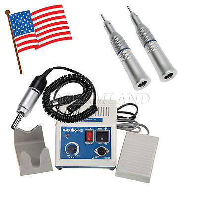 Usa Dental Marathon Electric Micro Motor With 2 Slow Straight Handpieces Nozzle