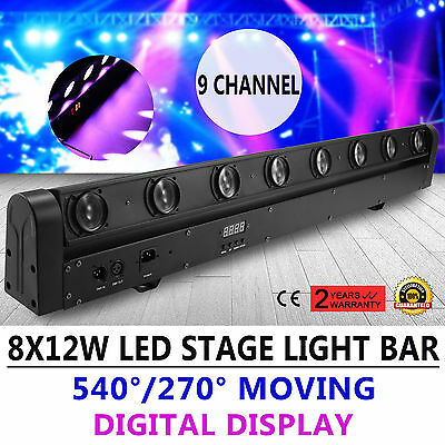8X12W 100W RGBW 4in1 Beam LED BarBühnenbeleuchtung DMX512 DJ Stagelampe Sweeper