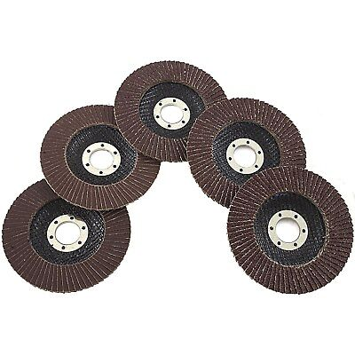 5 Piece Assorted Grit 4.5 Inch Flap Grinding Disc Wheels Sanding Grinding 80070
