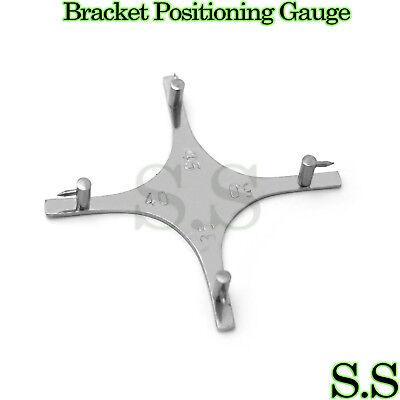 Dental Orthodontic Star-like Bracket Positioning Gauge For Posterior Teeth