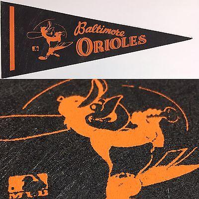 1970 Vintage Baltimore Orioles Maryland Baseball Mlb 4x9.75 Mini Pennant  Banner
