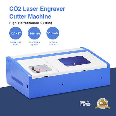 40w 12x8 Usb Co2 Laser Engraving Cutting Machine Commercial Engraver Cutter