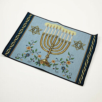 Festival of Lights ~ Hanukkah Menorah ~ Judaism Single Tapestry Placemat ()