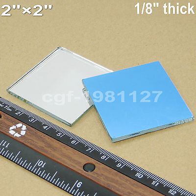 2pcs 50x50mm Glass First Surface Mirror - 96 Reflective Optical