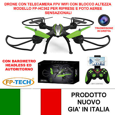 DRONE QUADRICOTTERO RADICOMANDATO WIFI 2,4Ghz CAMERA HD HC632 VIDEO FOTO USB LED