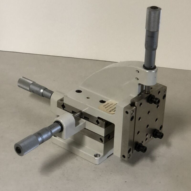 X Y Z Precision 3 Axis Stage with Starrett Micrometers