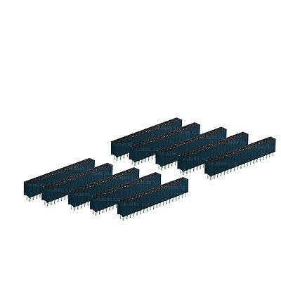 10pcs 2x20 40p 40-pin Female Header 2.54 0.1 2.54mm Raspberry Pi Gpio Dupont