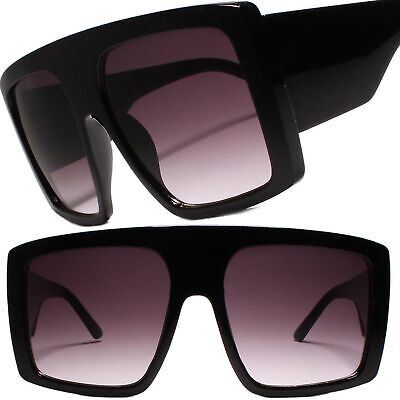 Exaggerated Oversized XXL Mens Womens Stylish Hip Square Sunglasses Black (Stylish Sunglass)