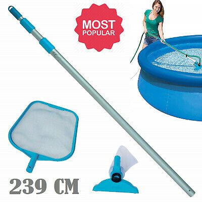 Hot Tub Swimming Pool Vacuum Hoover Water Cleaner Skimmer Debris Remover 239cm