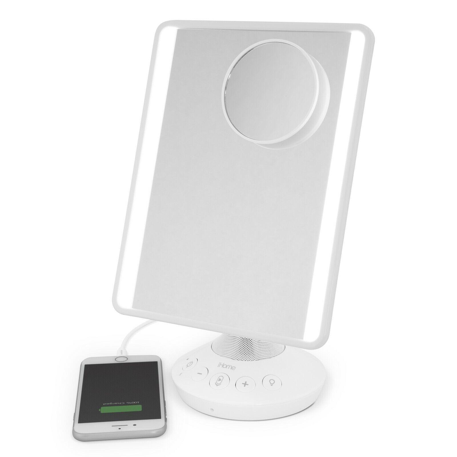 iHome Vanity Make UP Mirror with Bluetooth - Siri Google - 1