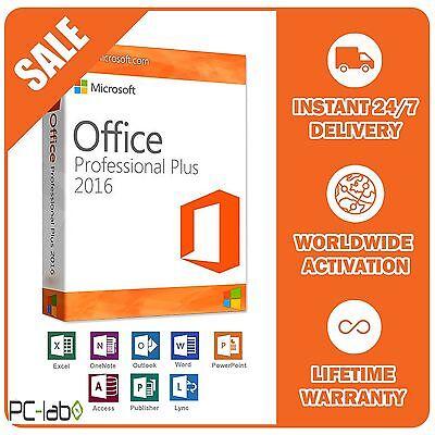 Original Office Professional Plus 2016 32  64Bit License Key Scrap Pc