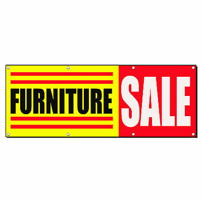 Furniture Sale Business Sign Banner 4 Feet X 2 Feet W 4 Grommets