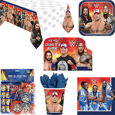 WWE Wrestling Birthday Party Decorations Tableware Invitations & Favour Pack](Wwe Party Invitations)