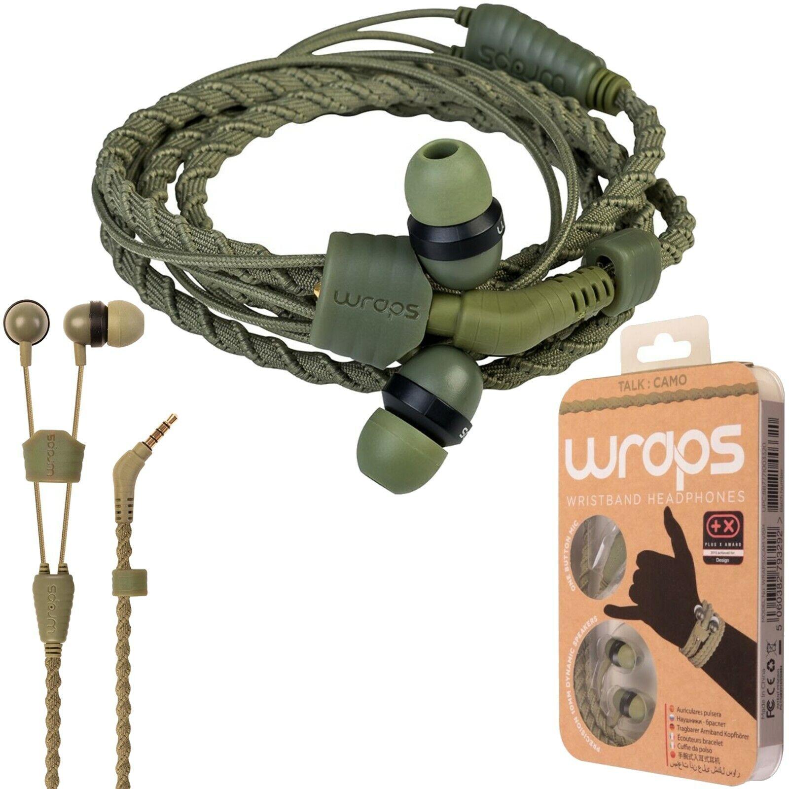 Wraps Wristband Headphones Anti Tangle In-Ear Earphones & Mi