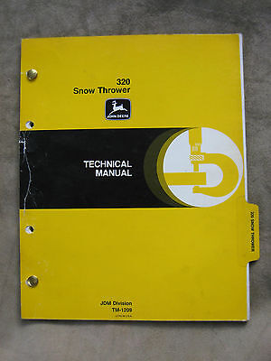 John Deere 320 Snow Thrower Technical Manual
