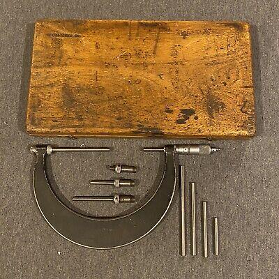 Scherr Tumico Outside Micrometer 2-6 With Case. Model M06-lnr. Rare Model