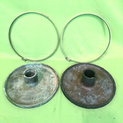 2 Buehler Brass Polishing Platens 8 Diameter For Grinding Sample Preparation