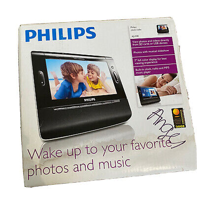 Philips Clock Radio With Photo Slideshow Model AJL308/37 Clock Radio, Alarm