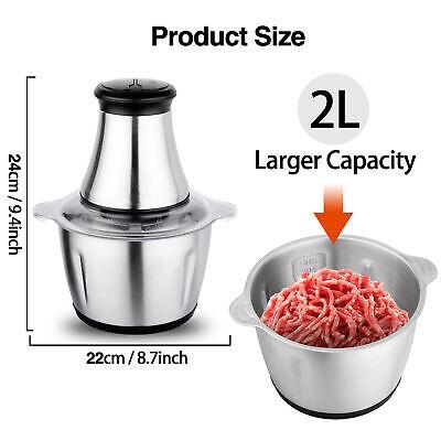 Meat Grinder Stainless Steel Food Processor For Meat Vegetables Fruits 350w 2l