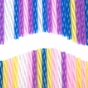Multicolour / Clear Washable Stylish 50s Diner Striped Colour Drinking Straws