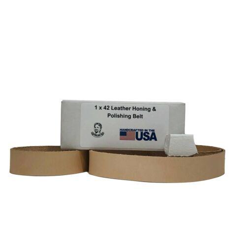 "1"" x 42"" Leather Honing & Polishing Belt With Buffing Compound"