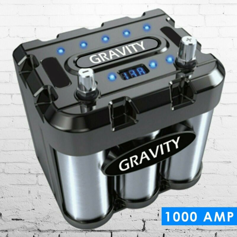 Gravity 1000A Car Audio Battery Stiffening Power Capacitor Mobile Stereo System