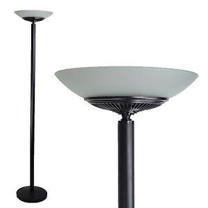 LED Floor Standing Energy Efficient Lamp Uplighter Torchiere Black Day