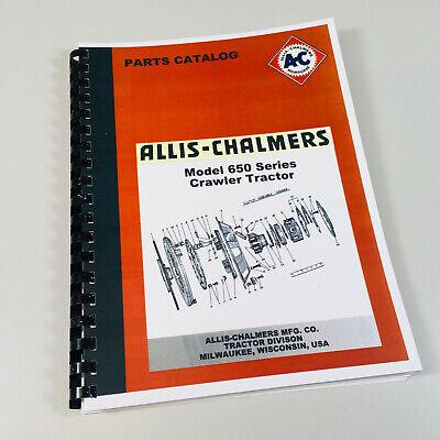 Allis Chalmers 650 Crawler Tractor Parts Manual Ac Catalog Bulldozer Dozer