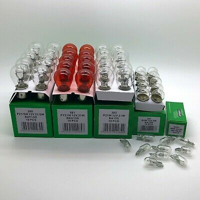 Car Parts - 50 x Assorted Quality 12 Volt Car Bulbs Set - 10 of Each 380 382 581 207 501