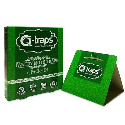 Q-Traps Pantry Moth Traps - Safe, Nontoxic, Insecticide & Odor Free, Pheromon...