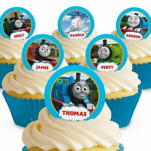 Cakeshop 12 x PRE-CUT Thomas the Tank Engine & Friends Edible Cake Toppers