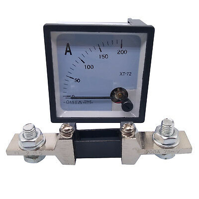 Us Stock Dc 0 200a Analog Amp Current Needle Panel Meter Ammeter Xt-72 Shunt