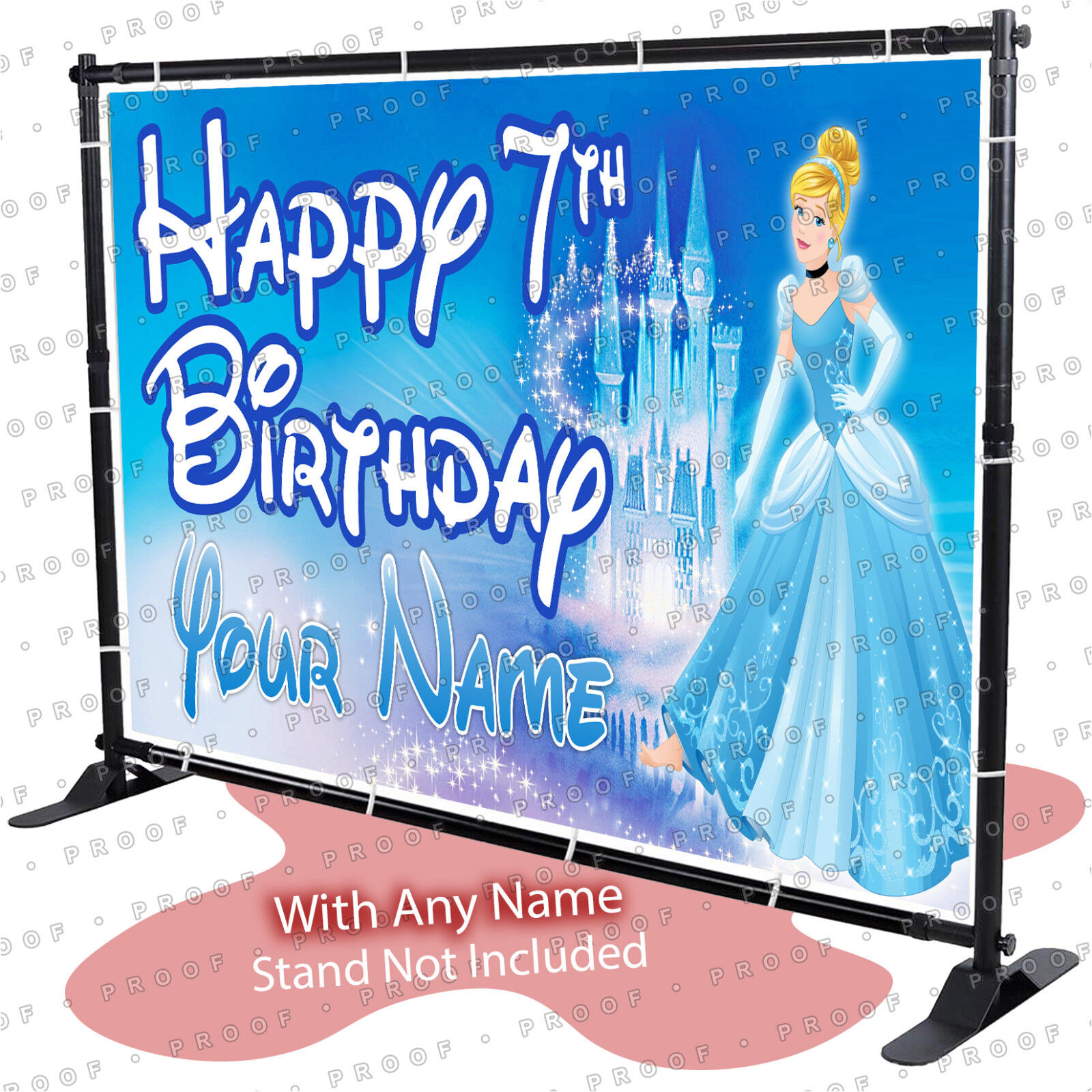 Disney Princess and the Frog  Birthday Banner Personalized Custom Design In//Out