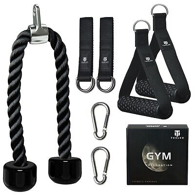 pull down cable rope gym machine attachment handles pulldown for bar