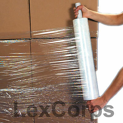 Stretch Wrap 1 Roll 20 X 1000 Feet 80 Gauge Move Pallet Luggage Plastic Shrink